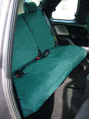 Waterproof Seat Covers 2nd Row Set Green 60/40 - LF1030BPGREEN - Britpart