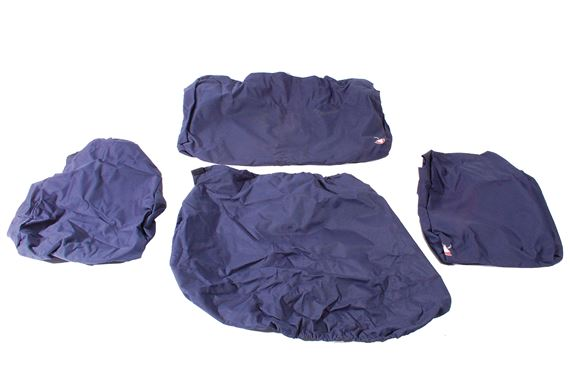 Waterproof Seat Covers 2nd Row (2 covers) Blue - LL1224BPREARBLUE - Britpart