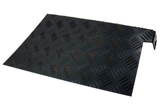 Chequer Wing Protectors - Rear 2mm Aluminium Black (pair) - LL1264P2B - Aftermarket