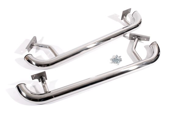 Side Steps - Tomb Raider Style Stainless Steel (pair) - LL1313BPSS - Aftermarket
