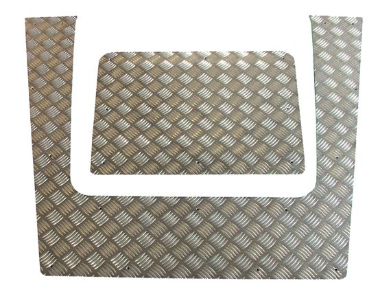 Chequer Bonnet Top - 2mm Aluminium (2 piece) - LL1368 - Aftermarket