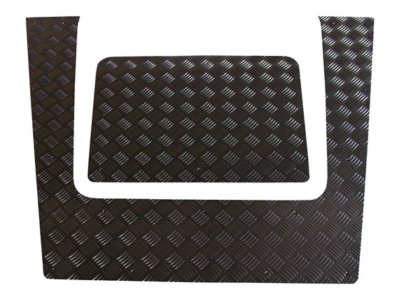 Chequer Bonnet Top - 2mm Aluminium Black (2 piece) - LL1369 - Aftermarket