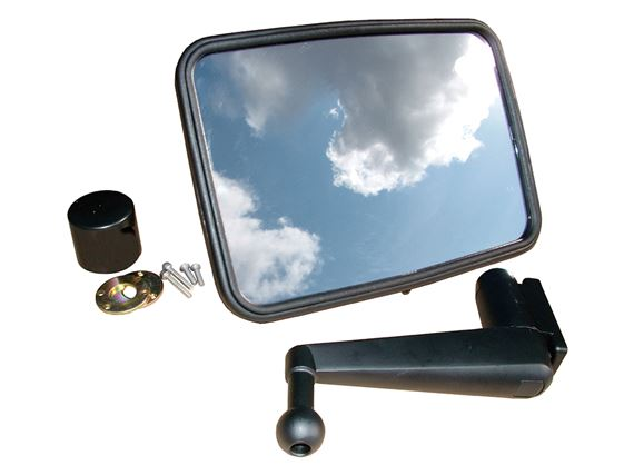 Flat Mirror with Fixing Kit - Short Arm - Britpart DA4405