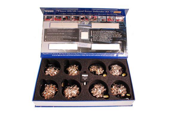 LED Smoke Lamp Upgrade Kit 73mm 9pc LL1782SMOKE Wipac