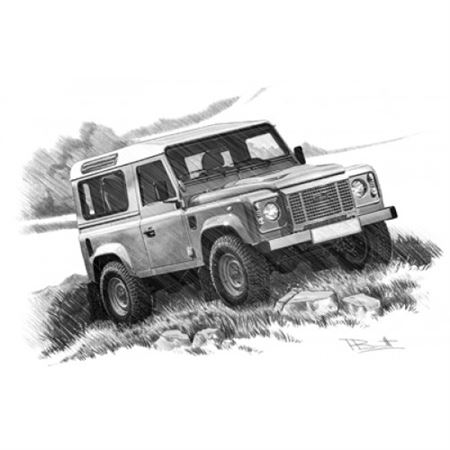 Defender Heritage LE 90 Portrait Personalised Portrait in Colour - LL1819COL