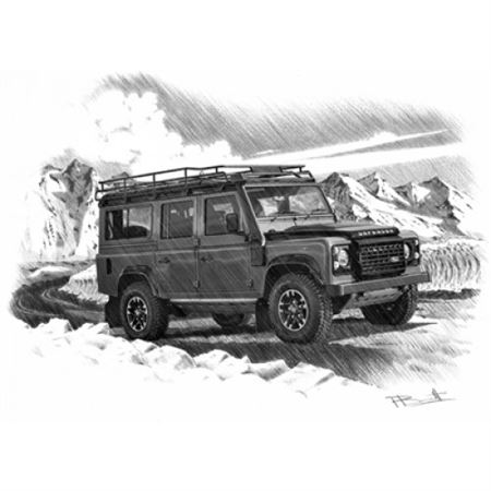 Defender Adventurer LE Portrait Personalised Portrait in Colour - LL1820COL