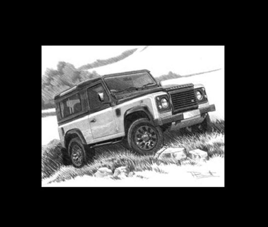 Defender Autobiography LE Portrait Personalised Portrait in Black & White - LL1821BW