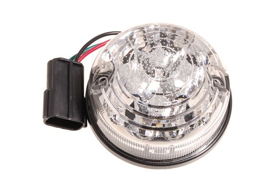 LED Clear Stop/Tail Lamp E-marked 73mm - LR048200LEDCL - Aftermarket