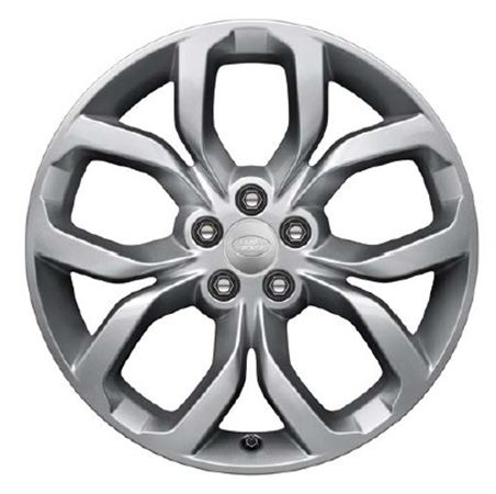 19 Inch Alloy Wheel - 5 Split Spoke - Style 521 with Gloss Black Finish - Genuine Land Rover