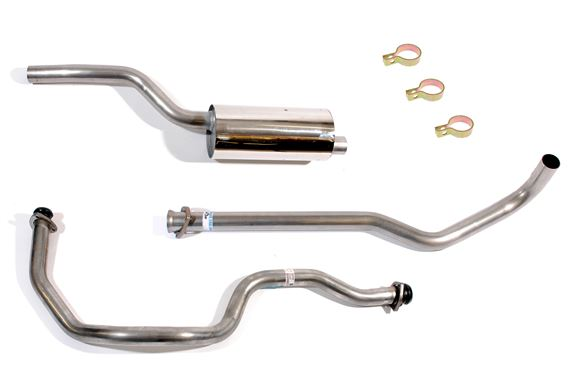 SS Exhaust System, large bore - LR1002LB