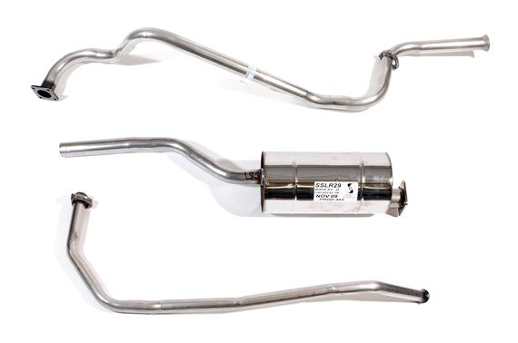 Series 2 and 3 Stainless Steel Exhaust - 107/109 inch Petrol