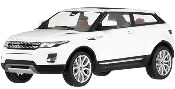 Range Rover Evoque 1:43 Scale Die Cast Model - 3 Door - Fuji White - Genuine Land Rover