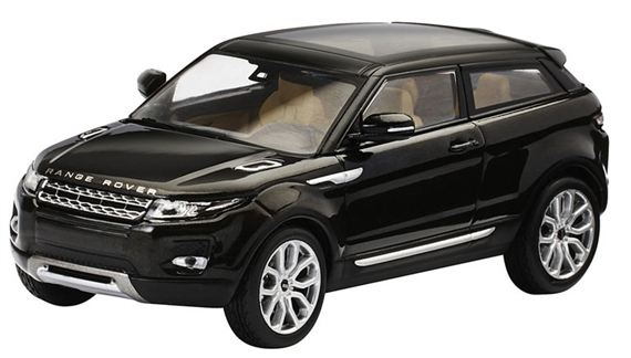 Range Rover Evoque 1:43 Scale Die Cast Model - 3 Door - Santorini Black - Genuine Land Rover