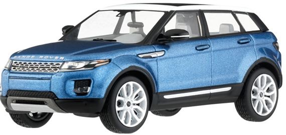 Range Rover Evoque 1:43 Scale Die Cast Model - 5 Door - Mauritus Blue - Genuine Land Rover