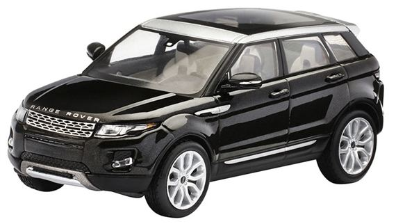 Range Rover Evoque 1:43 Scale Die Cast Model - 5 Door - Santorini Black - Genuine Land Rover
