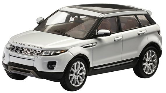 Range Rover Evoque 1:43 Scale Die Cast Model - 5 Door - Fuji White - Genuine Land Rover