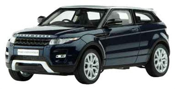 Range Rover Evoque 1:43 Scale Die Cast Model - Baltic Blue - Genuine Land Rover