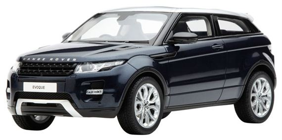 Range Rover Evoque 1:18 Scale Die Cast Model - Baltic Blue - Genuine Land Rover