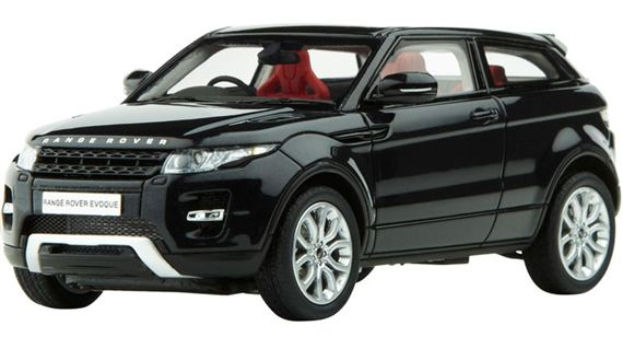 Range Rover Evoque 1:43 Scale Die Cast Model - Santorini Black - Genuine Land Rover