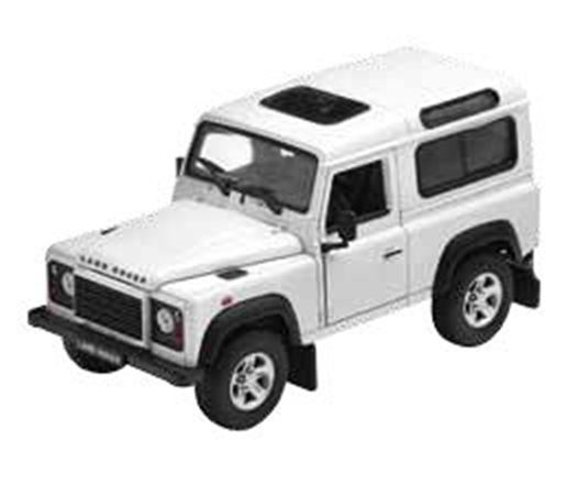 Land Rover Defender 1:24 Scale Die Cast Model - White - Genuine Land Rover