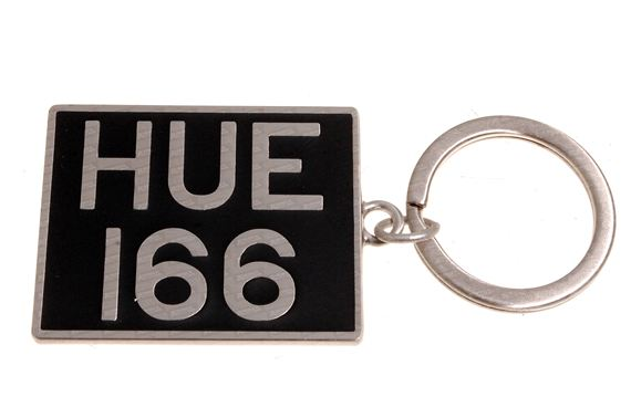 Land Rover 'HUE 166' Key Ring - Genuine Land Rover