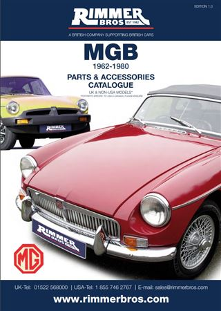 Rimmer Bros MGB & MGB GT Catalogue (1962-1980) 204 Pages