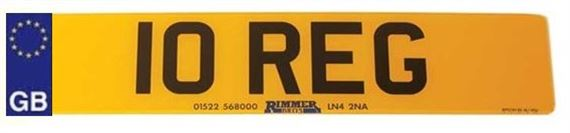 Vehicle Number Plate - Front Deluxe 3D Effect with GB Logo