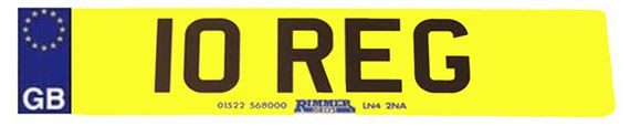 Vehicle Number Plate - Rear Standard with GB Logo