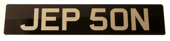 Vehicle Number Plate - Black/Silver Acrylic Standard Numbers - Single - RX1365BSINGLE