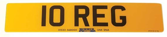 Vehicle Number Plate - Front Deluxe 3D Effect