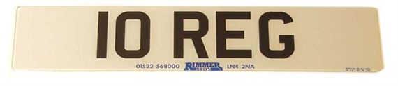 Vehicle Number Plate - Front Standard