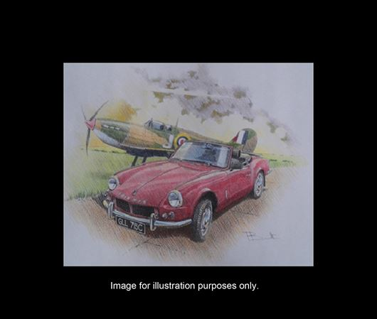 Triumph TR7 Convertible Personalised Portrait in Colour - RB2035COL