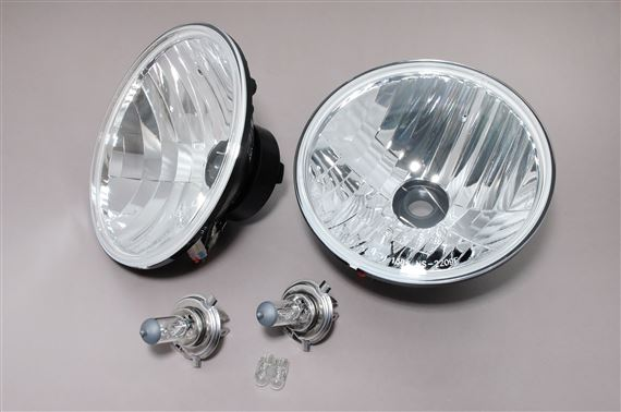 Halogen Conversion Kit (pair) LHD E-marked Crystal Lens with Pilot Lamp - RB7082CA - Ring