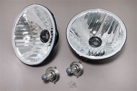 Halogen Conversion Kit (pair) RHD E-marked Crystal Lens with Pilot Lamp - RB7129CB - Ring