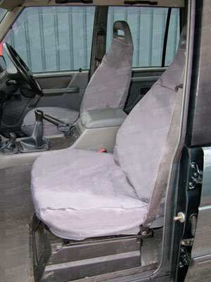 Waterproof Seat Covers Front (full) Grey - RD1223BPGREY - Britpart
