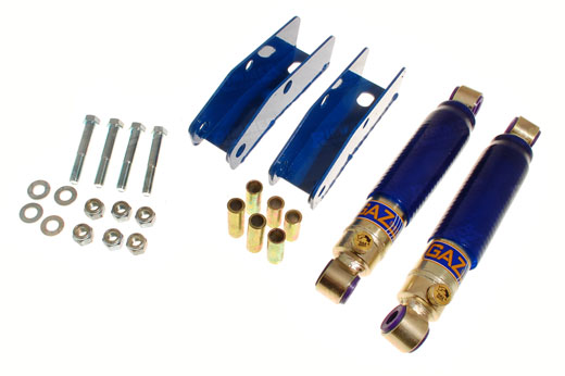 GAZ Rear Shock Absorber Kit - Adjustable - with Rear Conversion Brackets - Rotoflex Vitesse/GT6
