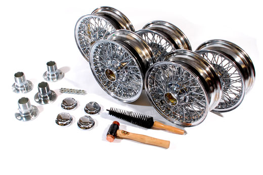 MWS Centre Lock Wire Wheels - Chrome Conversion Kit - 5.5 x 13 with Octagonal Centres - RL122155JEC