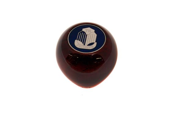 Gear Lever Knob - Wood - TR Shield - Large Amco Style - RL1528WA