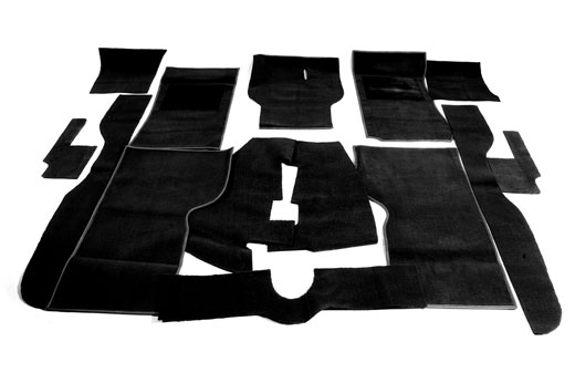 Passenger Area Carpet Set - RHD and LHD - Black - 2000/2500/2.5Pi - RM8113BLACK