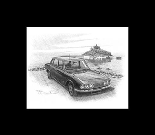Triumph 2000 MK2 Saloon Personalised Portrait in Colour - RM8273COL