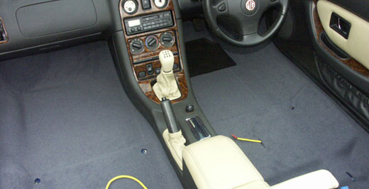 MGF and MG TF Interior Carpet and Fittings