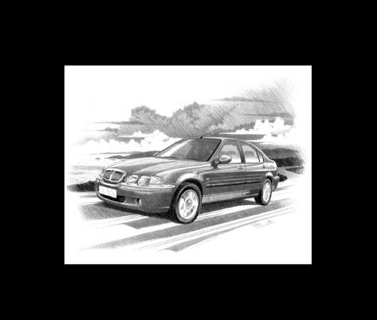 Rover 45 1999-2004 Personalised Portrait in Colour - RP1542COL