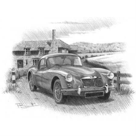 MGA Coupe Personalised Portrait in Colour - RP1621COL