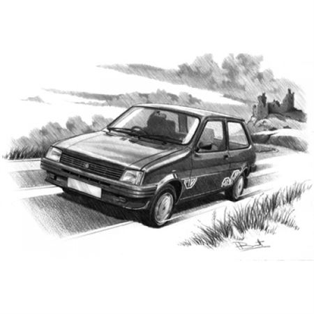 MG Metro (Dark Shading) Personalised Portrait in Colour - RP1631COL