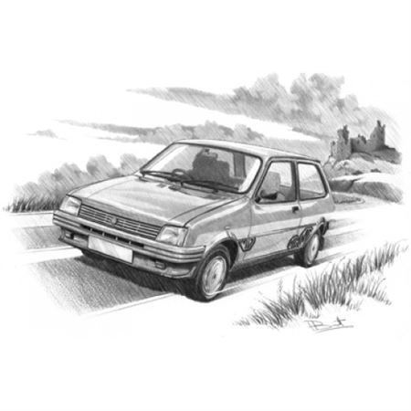 MG Metro (Light Shading) Personalised Portrait in Colour - RP1632COL