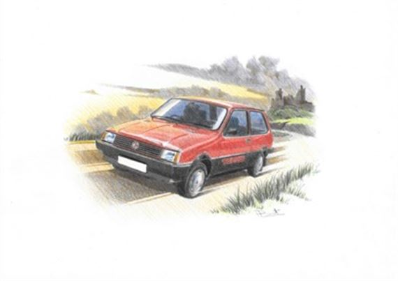 MG Metro Turbo Personalised Portrait in Colour - RP1633COL
