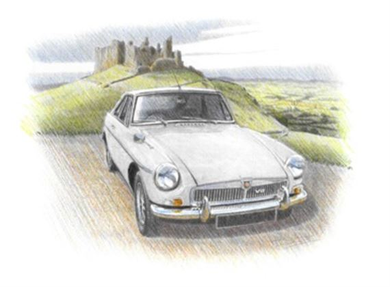 MGB GT V8 Personalised Portrait in Colour - RP1745COL