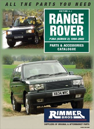 Rimmer Bros Range Rover P38A Catalogue (1994-2002) 74 Pages