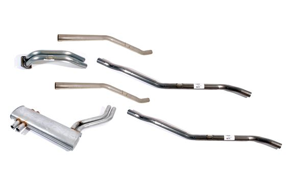 Stainless Steel Exhaust System - Standard - 304 Grade - TR6 Pi CR/TR6 CF on - RR1550SS