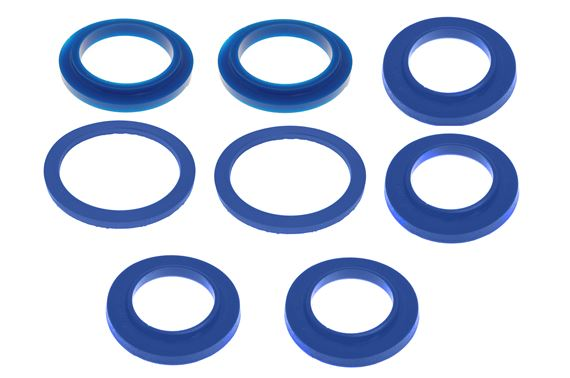 Spring Insulator Pad Kit of 8 - Front and Rear - Polyurethane - RS1724POLY